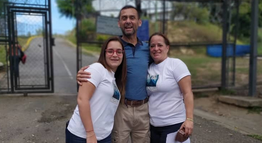Liberado el subcomisario Marco Hurtado, uno de los primeros presos políticos del régimen. Foto: Cortesía