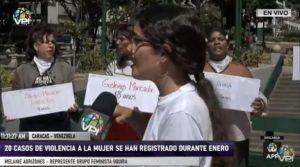 Manifestaron contra 20 casos de femicidio en Venezuela durante 2020