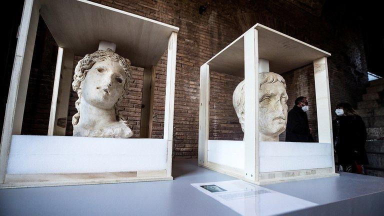 Hallazgos de piezas de la antigua Roma