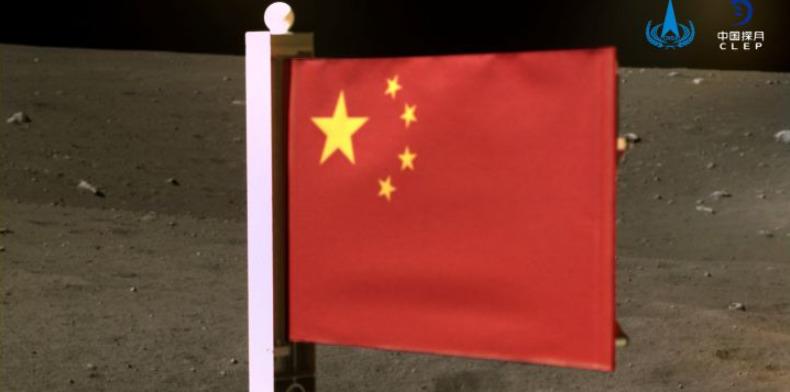 China se convirtió en la segunda nación en plantar su bandera en la luna