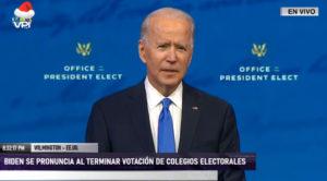 """Biden tras ser proclamado presidente electo: """"No se halló ninguna causa para revertir el resultado"""" (+Video)"""