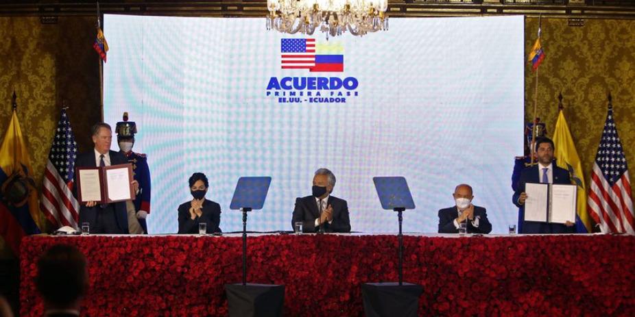 Ecuador se acerca a un tratado comercial con EEUU