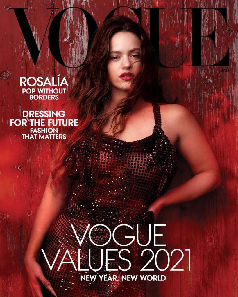 Rosalía copa la portada de Vogue, edición del mes de enero de 2021