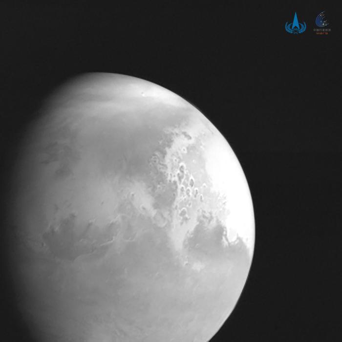 Sonda espacial china envió primera foto del planeta Marte