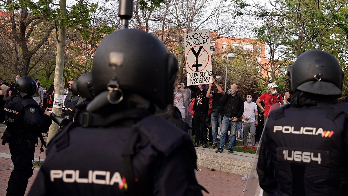 Protesta en Madrid | Foto: Cortesía NTN24