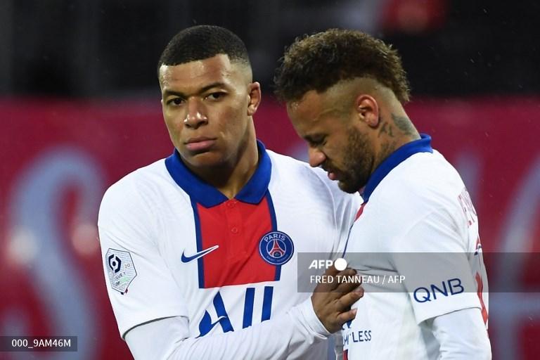 Neymar y Mbappé PSG
