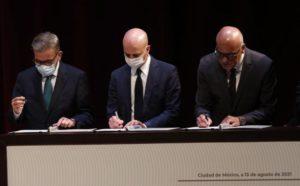 Gerardo Blyde y Jorge Rodríguez firman memorando de entendimiento en México, bajo la observación de Noruega - Oposición