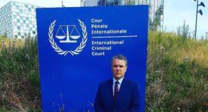 Iván Duque, presidente de Colombia en la Corte Penal Internacional. Foto: Twitter/Iván Duque