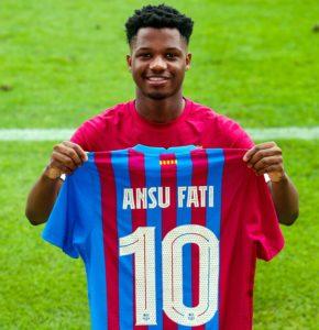 Ansu Fati Barcelona 10