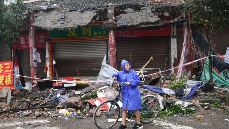 Daños en Sichuan. Foto: Twitter