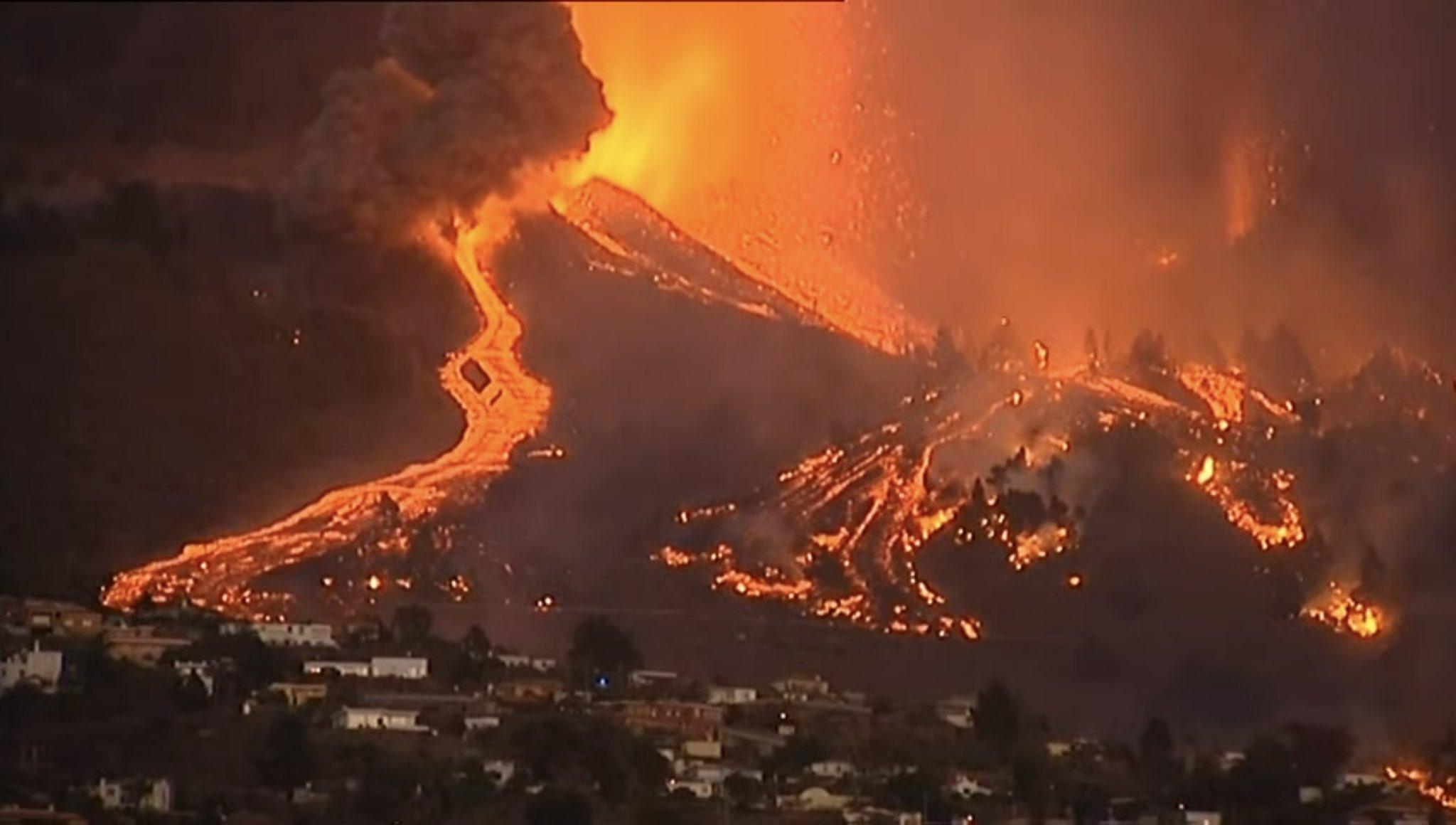 Volcán de La Palma. Foto: TV Canarias
