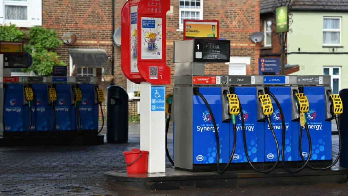 """Foto: Ben Stansall - AFP / La escasez de gasolina, debida al """"pánico"""", se agrava en el Reino Unido"""