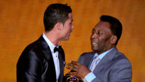 Pelé y Cristiano Ronaldo