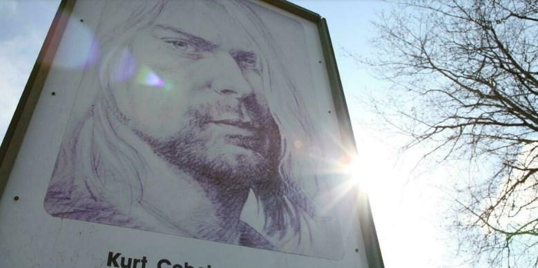 Retrato de Kurt Cobain en las calles de Aberdeen, Estados Unidos, localidad natal del cantante, el 1 de abril de 2014 Sébastien VUAGNAT AFP/Archivos