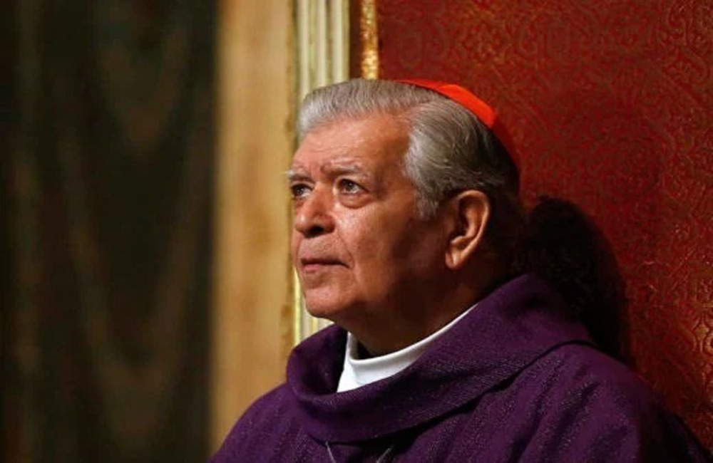 Cardenal Jorge Urosa Savino. Foto: Instagram/Arquidiócesis de Caracas