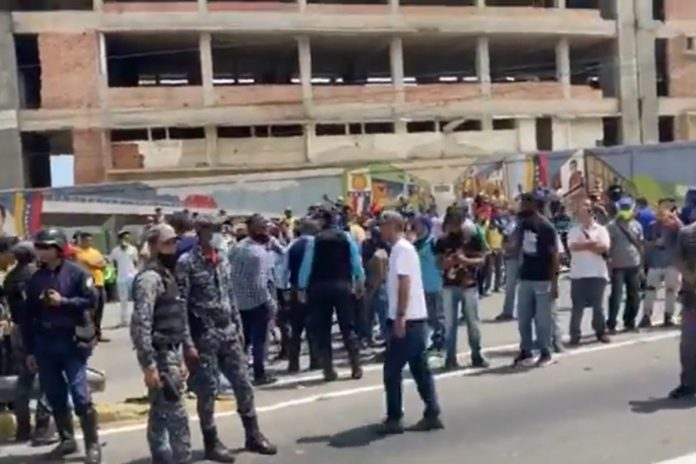 Protesta de trabajadores. Foto: Twitter