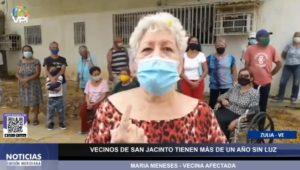 María Meneses, vecina de la comunidad de San Jacinto, en Maracaibo, Zulia.