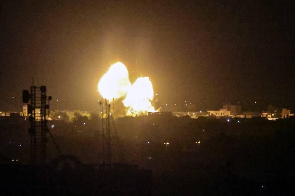 Ataque en Gaza. Foto: AFP