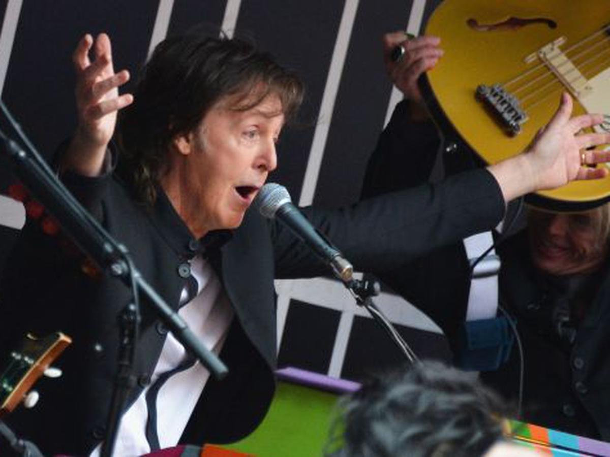 Paul McCartney presentó su nuevo disco en Gran Bretaña. (AFP)