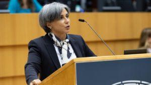Eurodiputada Isabel Santos. Foto: EP.