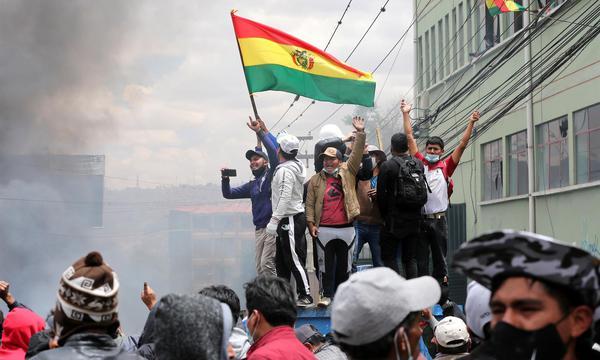 Protestas en Bolivia. Foto: Twitter