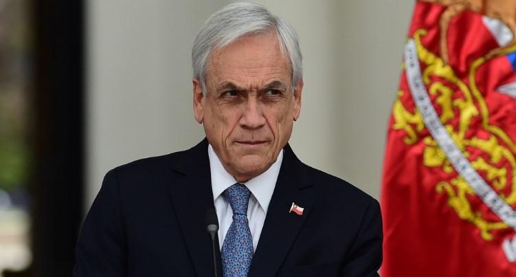 El presidente de Chile, Sebastián Piñera, durante un mensaje a la nación, el 27 de noviembre de 2019 en Santiago. Foto: AFP