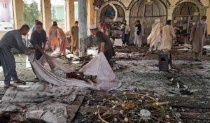 Atentado en mezquita de Afganistán. Foto: AFP
