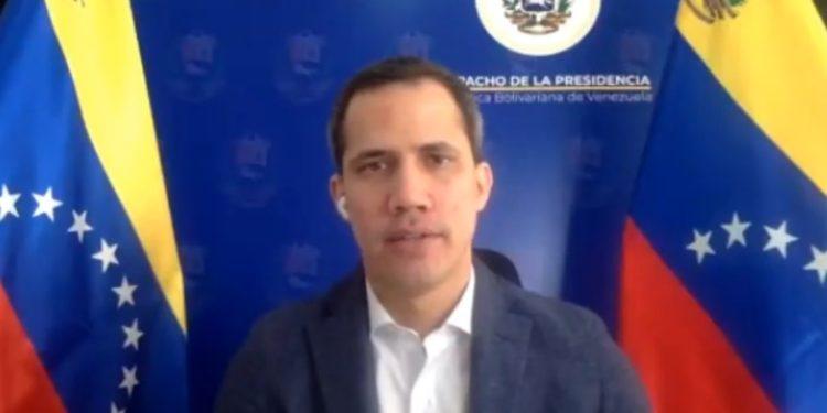 Juan Guaidó en la Cumbre de los Defensores de los Derechos Humanos.