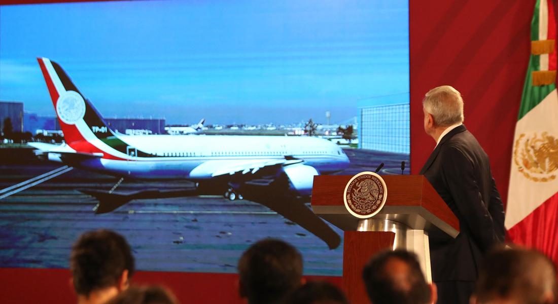 Andrés Manuel López Obrador planteó posible rifa de lujoso avión presidencial foto via el nacional
