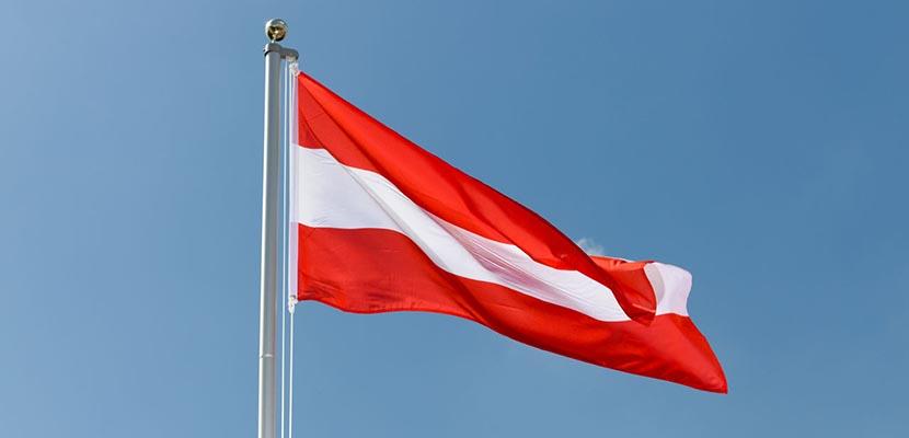 Gobierno de Austria anunció la donación de dos millones de euros para Venezuela / Bandera de Austria | Foto: Absolut Viajes