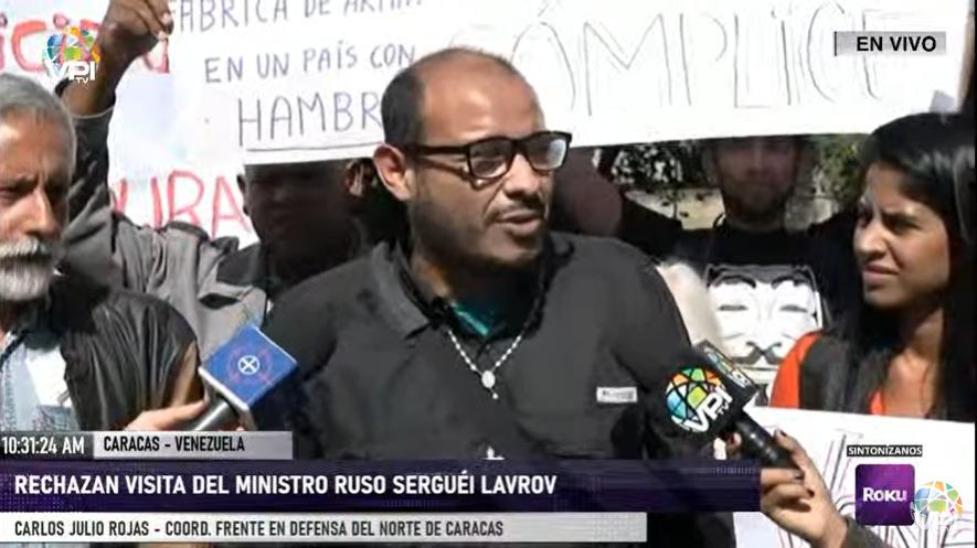 Venezolanos rechazaron la llegada del canciller ruso a Venezuela