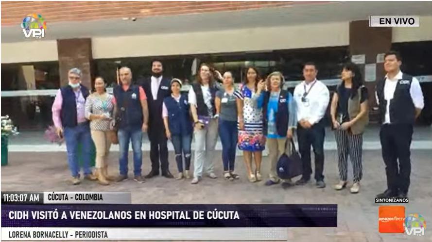 Pdta. de la CIDH visitó hospital en Cúcuta para verificar atención a venezolanos