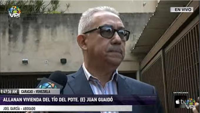 Joel García, abogado, allanamiento dgcim | Foto: VPItv