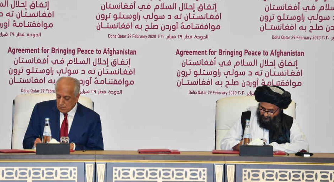 """Estados Unidos y los talibanes firmaron """"histórico"""" acuerdo de paz"""
