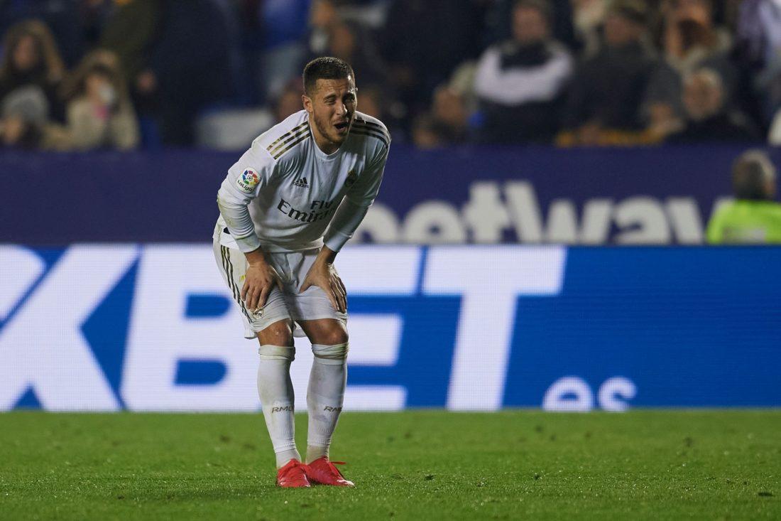 Eden Hazard se lesionó en el partido contra Levante