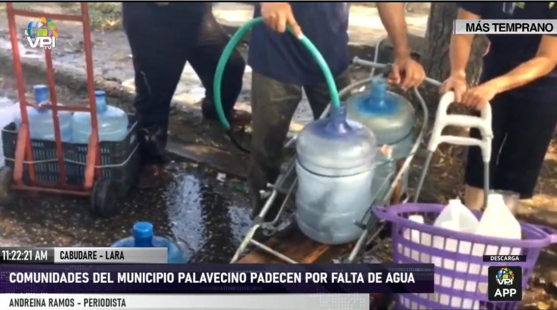 Comunidades de Palavecino (Lara) sin servicio de agua desde hace 30 días