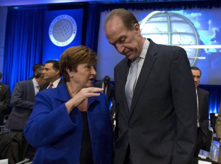 """Kristalina Georgieva, directora general del FMI, y David Malpass, presidente del Banco Mundial, anunciaron que sostendrán reunión """"virtual"""" por riesgos de coronavirus (Covid-19)"""