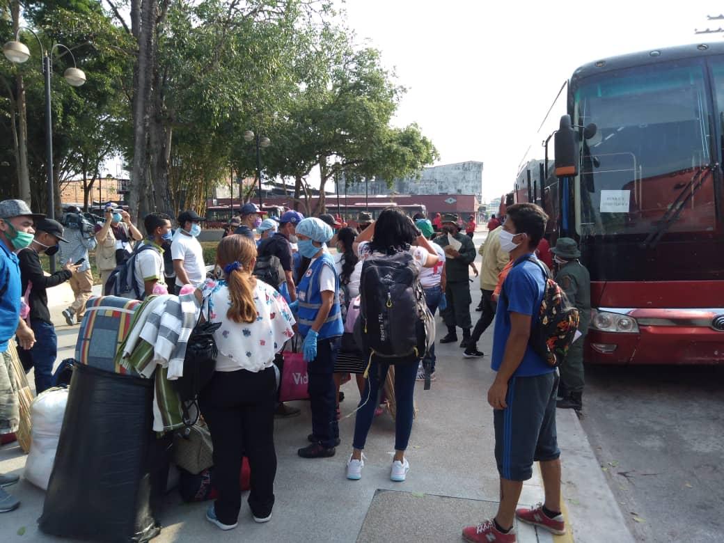 203 venezolanos retornaron a sus hogares tras regresar de Colombia y cumplir con aislamiento