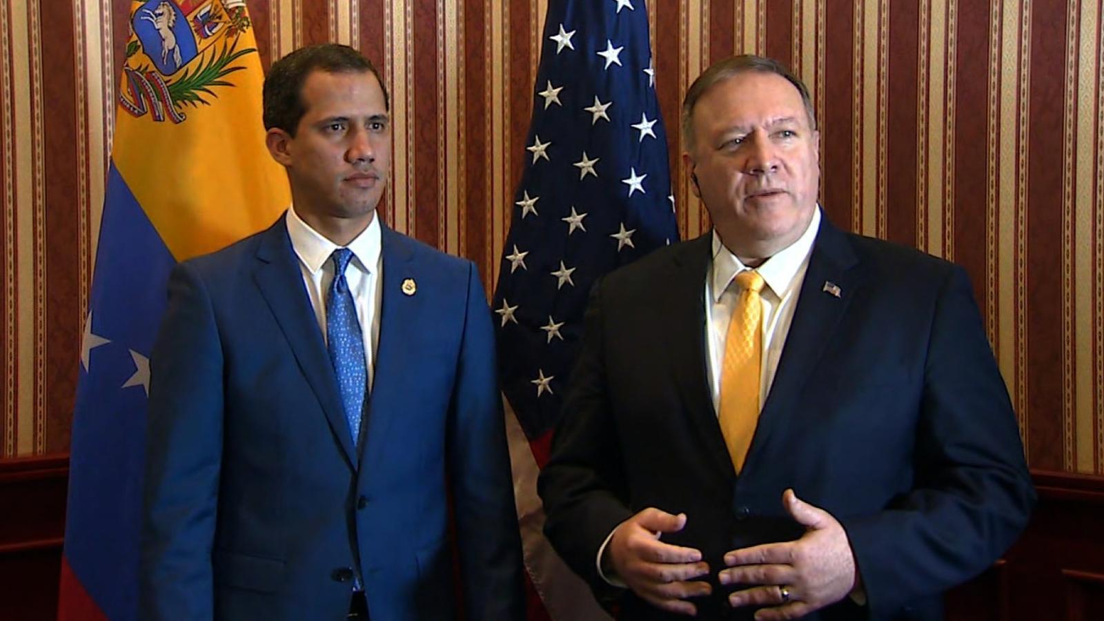 Mike Pompeo y Juan Guaidó | Foto: CNN en Español