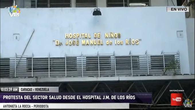 Enfermeras del JM de los Ríos protestaron por falta de insumos médicos | Foto: VPItv
