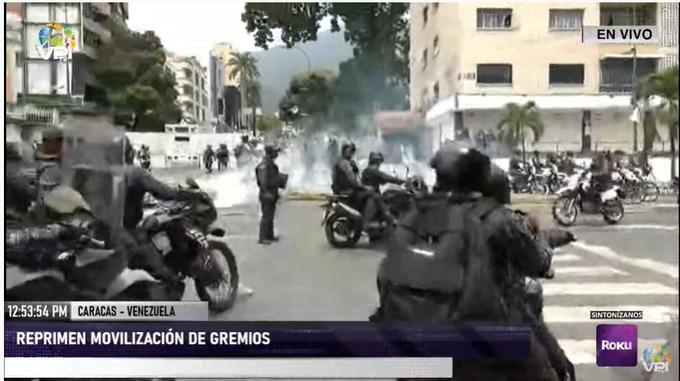 manifestación reprimida en Chacaito