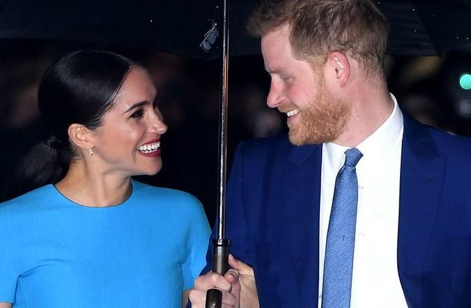 Meghan Markle y Harry reaparecieron antes de su salida de la realeza británica
