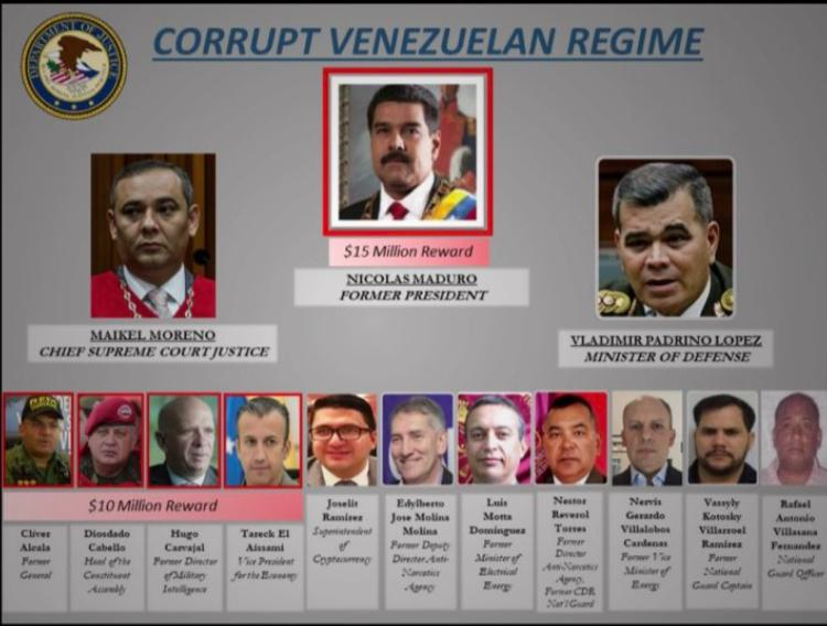 EEUU acusó a Maduro y ofrece recompensa por su captura   Foto: cortesía