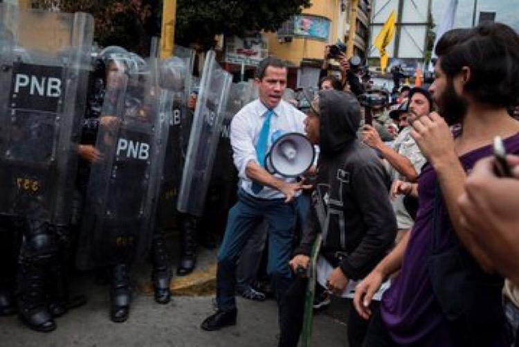 """Pdte. (E) Guaidó señaló a presunto """"infiltrado del chavismo"""" en manifestaciones de este 10 de marzo"""
