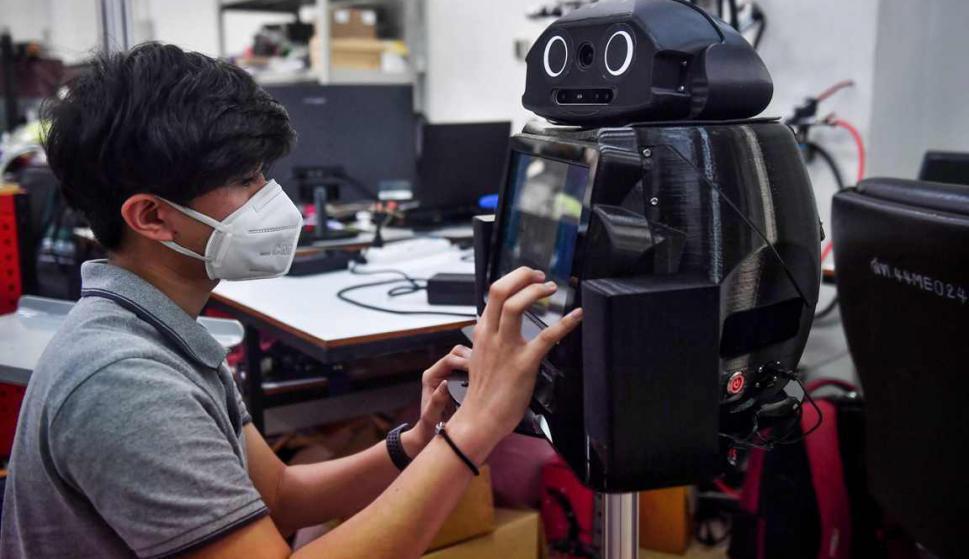 Ninja, el robot que luchará contra la pandemia del COVID-19 en Tailandia