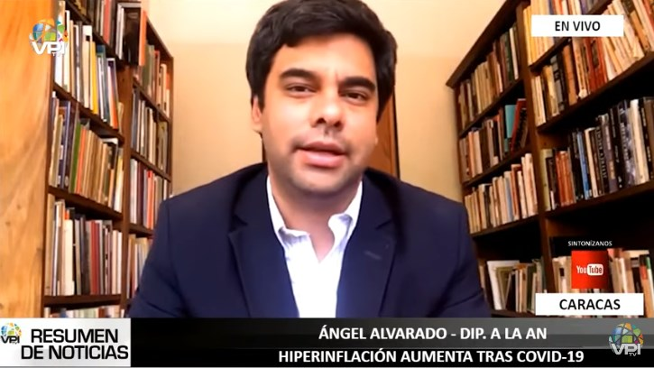 Diputado Carlos Alvarado informó que en 145,3% se ubicó inflación acumulada de este 2020