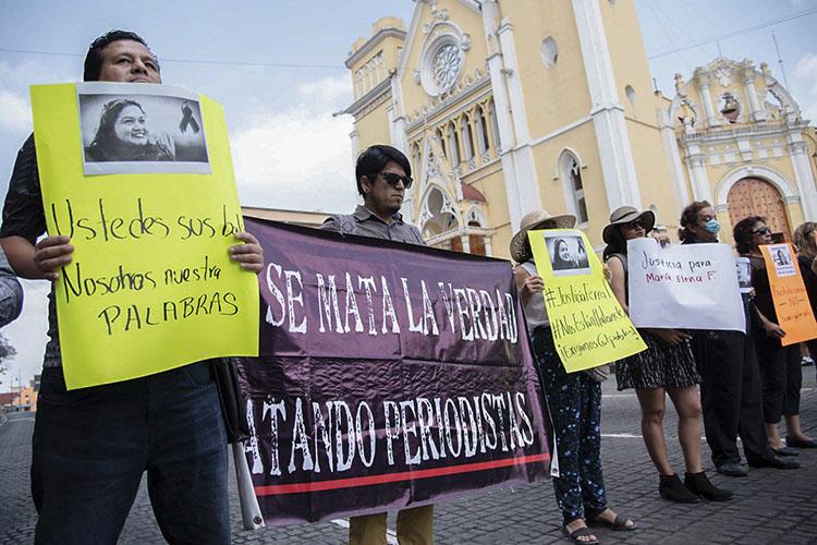Periodistas protestaron en México
