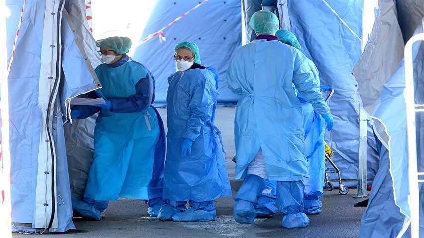 Médicos italianos protestan por falta de protección | Foto: Cortesía