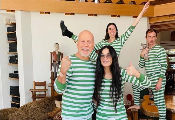 Cuarentena con la expareja: Demi Moore y Bruce Willis juntos por el COVID-19
