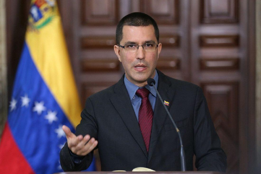 Jorge-Arreaza-Cancillería-bandera